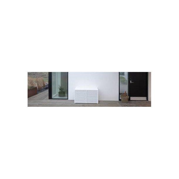 Varmepumpe skjuler i kompositplast, Hvid