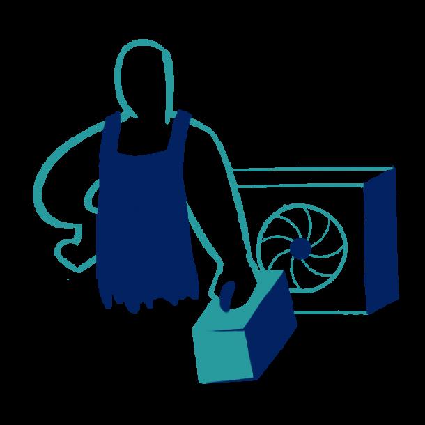 Serviceaftale varmepumpe ved 2 stk